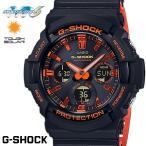 CASIO G-SHOCK 電波ソーラー GAW-100BR-1A Gショック アナログ デジタル 腕時計 メンズ オレンジ ブラック  電波 ソーラー  カシオ