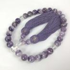 数珠 男女兼用 シェブロンアメジストの数珠 紫水晶
