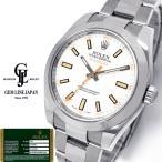 ギャラ付 ロレックス ミルガウス 116400 V番 ルーレット刻印 白文字盤 メンズ 自動巻 腕時計