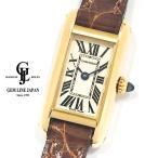 カルティエ タンク アロンジェ W1529956 YG/革 レディース クォーツ 腕時計