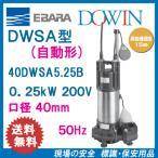エバラ 樹脂製汚水・雑排水用水中ポンプ 40DWSA5.25B 0.25kW 200V 50Hz 口径40mm 自動形 フロートスイッチ付 荏原