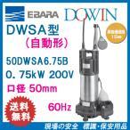 エバラ 樹脂製汚水・雑排水用水中ポンプ 50DWSA6.75B 0.75kW 200V 60Hz 口径50mm 自動形 フロートスイッチ付 荏原