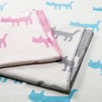 西川産業 日本製 マタノアツコ 綿毛布 人気の猫柄 ピンク ni-flm1001402p  /寝具/布団/掛け/敷き/パッド/ぐっすり/