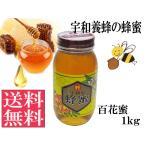 国産 純粋 百花蜜1kg 非加熱 生はちみつ 送料無料 はちみつ 宇和養蜂 養蜂場直送 愛媛産