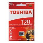 128GB TOSHIBA EXCERIA microSDXC CLASS10 UHS-1 [THN-M301R1280A4] R=48MB/s W=20MB/s SDアダプタ無し 海外パッケージ