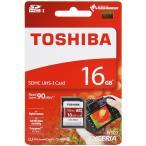 16GB TOSHIBA EXCERIA SDHC CLASS10 UHS-1(U3) [THN-N302R0160A4] R=90MB/s 英語パッケージ