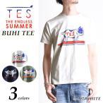 TES エンドレスサマー BUHI プリント半袖Tシャツ クルーネック Tシャツ メンズ FH-7574310