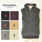 ショッピングジムフレックス ジムフレックス Gymphlex ジムフレ メンズ ダブルジップ フード付きボアベスト カラー J-0855PL