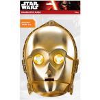 ハロウィン コスプレ 景品 スターウォーズペーパーマスク C-3PO