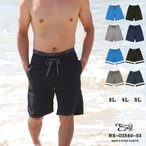 サーフパンツ メンズ 大きいサイズ 水着 海水パンツ 無地 ns-o2580-03