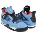 NIKE AIR JORDAN 4 RETRO ''TRAVIS SCOTT'' 【ナイキ エア ジョーダン 4 レトロ】 UNIVERSITY BLUE / BLACK