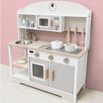 送料無料 ままごと キッチン 木製 コンパクト おままごとセット おままごと 調理器具 おもちゃ 知育玩具 ごっこ遊び プレゼント