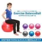バランスボール 55cm 6色 空気入れポンプ付き アンチバースト ヨガボール エクササイズ ダイエット トレーニング _a565