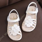 ベルクロ キッズサンダル キッズ 女の子 サンダル 子供 靴 フラワー 可愛い ベビー サンダル ガールズ シューズ 滑り止め 軽量 ビーチサンダル 赤ちゃん