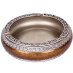 アンティーク調 ヨーロピアン 樹脂製  円形 アラウンド 灰皿 白 品番:GMS00350(ブラウン)