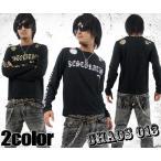 ショルダーアームプリントロンT ブラック×ホワイト ブラック×ゴールド SOUL JAPAN ソウルジャパン メンズ ナックル メンズ 悪羅悪羅