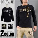 DELTA SEVEN ラメ文字ロゴプリント ブラック×ゴールド ブラック×シルバー