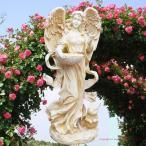 ガーデニング雑貨 ラージエンジェルフィダー  アンジェロ 天使置物 女神像 フェアリー オブジェ エントランス 天使妖精・薔薇 姫 ガーデニング ガーデン