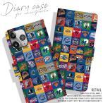 手帳型スマートフォンケース iPhone8 iPhoneX スマホケース バスケ ブルズ レイカーズ NBA 海外 チーム