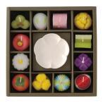 ろうそくギフト 和菓子型キャンドル・皿セット T9626/6319−075