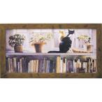 壁掛け飾り 絵画 お祝い 記念品 おしゃれ かわいい |スティーブ ハンクス 「ブックエンド」 SH-18002