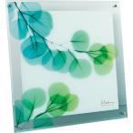 壁掛け飾り 絵画 おしゃれ かわいい |X RAY ガラス アート 「ユーカリ(Lサイズ)」 | ガラス 絵画 XR-07010