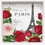壁面飾り 卓上 絵画 おしゃれ かわいい |ロハス ミニアートフレーム ケイティ パティート 「ルージュ パリ ホワイト」 壁掛、卓上両用 LA-01633