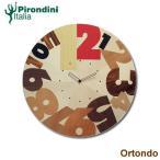 ショッピングイタリア イタリア・ピロンディーニ社・掛時計(Ortondo 032) ブランド 海外 おしゃれ クロック 天然木材