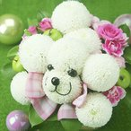 フラワーギフト 動物アレンジ・イヌポン・ホワイト お祝い 記念日 生花 プレゼンント 犬 誕生日