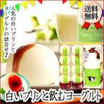 送料無料 北海道 まんまる 白いプリン 飲むヨーグルト セット ギフト お取り寄せ 記念日 スイーツ デザート