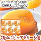 北海道 ホリ 夕張メロン ピュアゼリー 6個入 ギフト セット