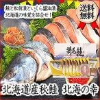 送料無料 北海道 北海の幸詰合せ お取り寄せ 記念日 秋鮭 いくら 新巻