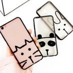 ネコ ウサギ パンダ アイフォン ケース iphone 5 6 7 8 PLUS