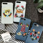 スカジャン 刺繍 Gジャン デニム アイフォン ケース iphone 5 6 7 8 PLUS