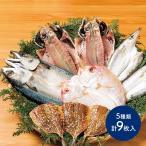 送料無料 海鮮 ひもの 真鯵 れんこ鯛 かます さば あじ みりん干し 5種類 計9枚 九州 鯵 アジ 鯛 カマス サバ 干物 詰合せ 惣菜 プレゼント C1956 お