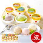 ギフト 共進牧場 ジャージーミルクアイスクリーム 5種 計28個 バニラ ストロベリー チョコレート 抹茶 ミルクティー 送料無料 IWJ2007 高級 ホワイトデー