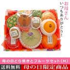 予約 母の日 ギフト 母の日どら焼きとフルーツセット(M) 名入れのし付きフルーツギフト 果物 詰め合わせ