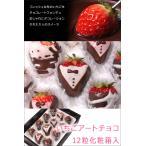 イチゴ チョコ ギフト サプライズプレゼント いちごアートチョコ 12粒入り 誕生日 プレゼント バレンタイン 送料無料 ホワイトデー