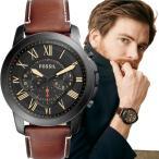 【TIME Gear vol.19 掲載 】FOSSIL フォッシル GRANT グラント ブラック ブラウンレザー クロノグラフ アナログ メンズ 腕時計 FS5241