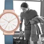 ポイント5倍 ★SKAGEN[スカーゲン] SKW2482 Ancher Blue leather ローズゴールド ブルーレザー アナログ クオーツ レディース 腕時計