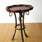 サイドテーブル 木製 おしゃれ アンティーク 花台 デザイン