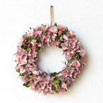 リース 玄関 飾り ナチュラル おしゃれ かわいい ドライフラワー 造花 壁掛け インテリア 壁飾り ウォールデコ 春 花 ピンク ドライフラワーリース コーラル
