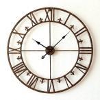 壁掛け時計 掛け時計 壁掛時計 掛時計 おしゃれ アイアン アンティーク レトロ クラシック 大きい 大型 ウォールクロック 大きな掛け時計 アイアンダイヤル