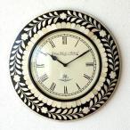壁掛け時計 掛け時計 掛時計 壁掛時計 おしゃれ アンティーク レトロ クラシック ヨーロピアン 北欧 カフェ 丸型 ラウンド ウォールクロック ボーンフラワー
