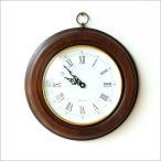 壁掛け時計 壁掛時計 掛け時計 掛時計 木製 イタリア製 丸型 ラウンド おしゃれ シンプル モダン 天然木 ブラウン ゴールド ウッドウォールクロック 丸