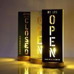 オープン クローズド OPEN CLOSED 看板 LED ライト 照明 おしゃれ モダン スタンド サイン オープン・クローズライト3カラー