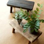 花台 フラワースタンド 木製 おしゃれ ナチュラル 天然木 桐 花置き テーブル ベンチ デザイン 観葉植物 鉢スタンド 鉢置き台 ウッドスクエアスタンドS 2カラー