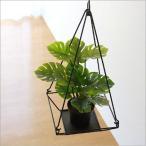 フェイクグリーン ハンギング 吊るす インテリア おしゃれ 人工観葉植物 アイアンスクエアハンギング