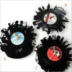 壁掛け時計 掛け時計 掛時計 壁掛時計 おしゃれ かっこいい ユニーク アメリカン レコード盤の掛け時計 3タイプ