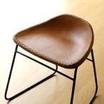 スツール アンティーク おしゃれ 椅子 いす イス チェア チェアー アイアンと本革のスツールA
